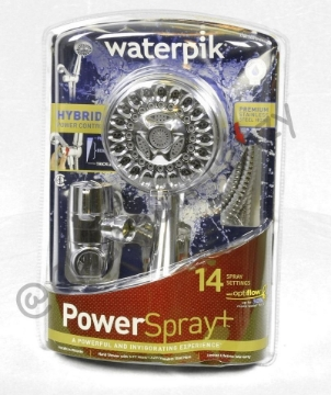 Picture of Waterpik Handheld 14-mode Showerhead Power Spray Chrome CF-1-388