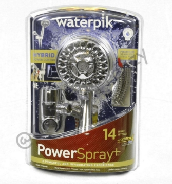 Picture of Waterpik Handheld 14-mode Showerhead Power Spray Chrome CF-1-392