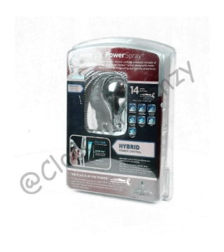 Picture of Waterpik Handheld 14-mode Showerhead Power Spray Chrome CF-1-393